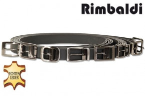 Rimbaldi® Assortment Full leather belt with metal buckle masssiver, smooth buffalo leather - sat