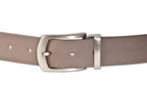 Rimbaldi®- Full leather belt with metal buckle masssiver (nickel free), smooth buffalo leather - sat