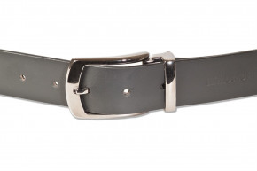 Rimbaldi® - Full leather belt with metal buckle masssiver (nickel free), smooth buffalo leather - sa