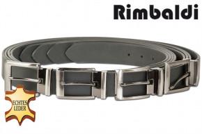 Rimbaldi - Voll-Ledergürtel mit masssiver Metallschnalle (Nickelfrei), glattes Büffelleder - matt/schwarz