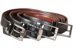 Rimbaldi®  Wende-Ledergürtel Sortiment mit Metallschnalle Schwarz und Braun, beidseitig nutzbar ind verschiedene Ausführungen